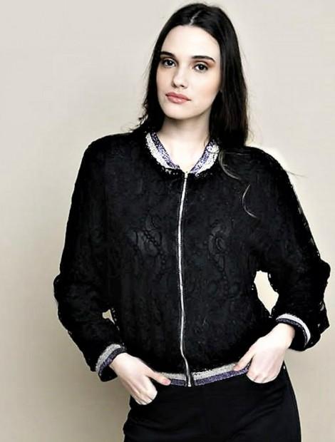 Δαντέλα bomber jacket
