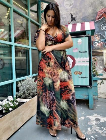 Φόρεμα μαγιόπανο με κρουαζέ μπούστο