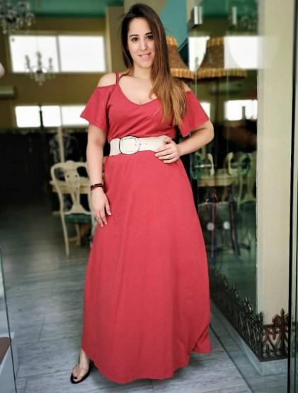 Φόρεμα με μανίκια και  ραντάκι