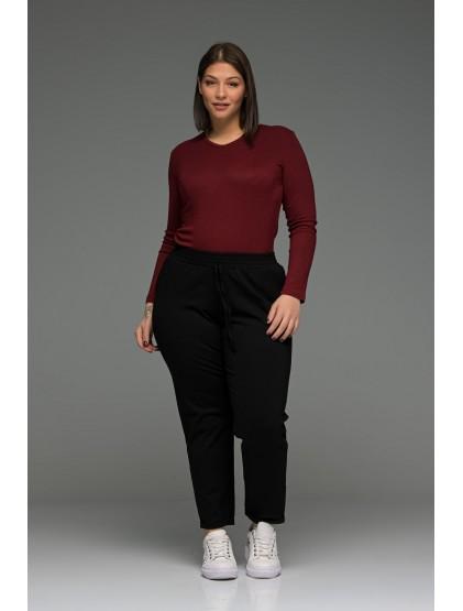 Straight παντελόνι  με τσέπες και ρεβέρ