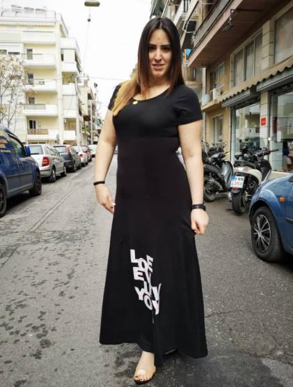 Ευκολοφόρετο φόρεμα με στάμπα
