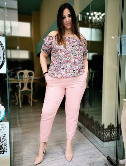 Ροζ 'Prada' Παντελόνι Σε Ανορθωτικό Κρεπ