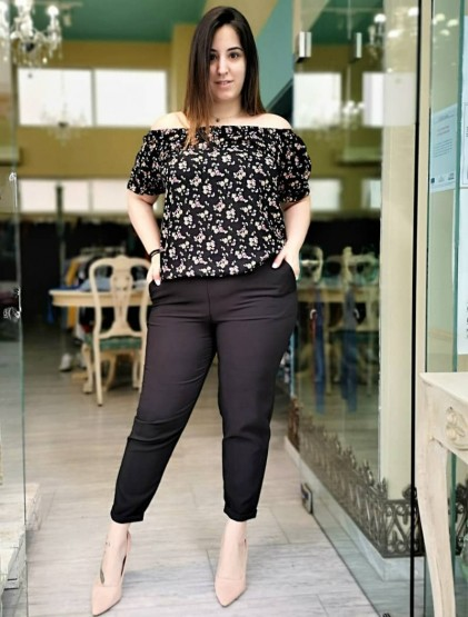 Μαύρο 'Prada' Παντελόνι Σε Ανορθωτικό Κρεπ